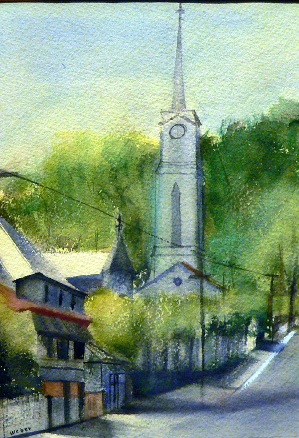 20: Watercolor by Barbara Weber, Townscape