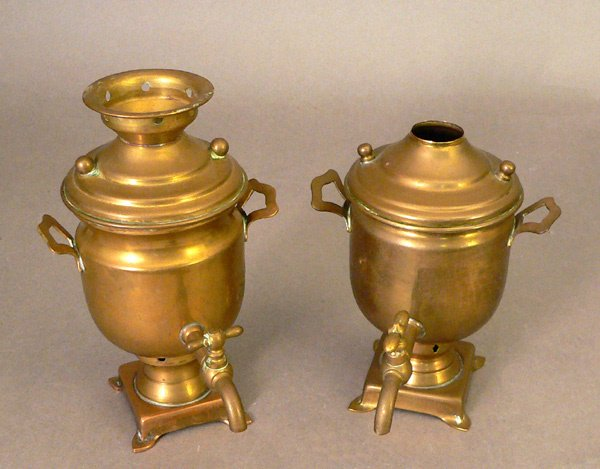 104: Two 19th C. Russian Toy Samovars