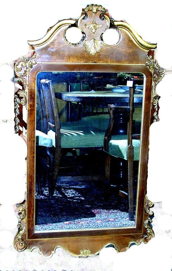 106: 20th C. Italian Mahogany Wall Mirror.