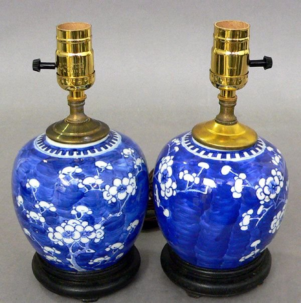 114: Pair of Mid-20th C. Oriental Ginger Jars.