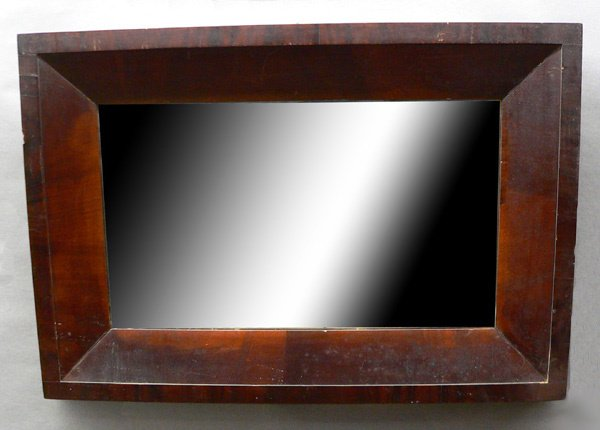 119: Early 19th C. Mahogany Empire Mirror.