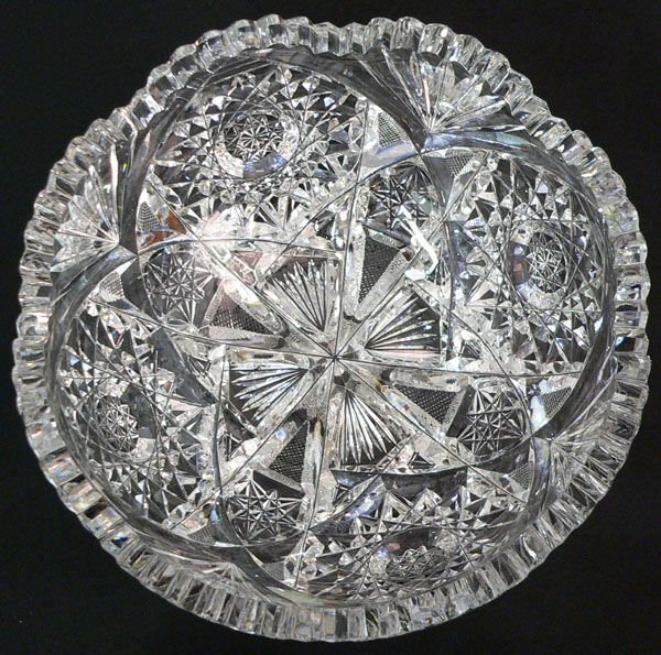 121: A Cut Crystal Round Bowl