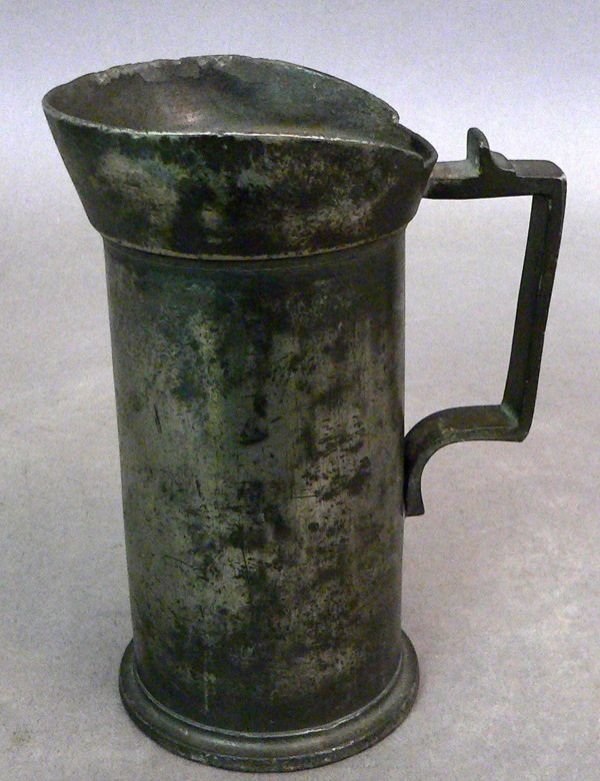 111: Two 19th C. Pewter Measures