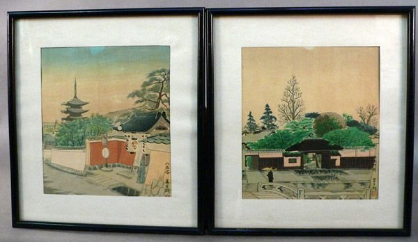 113: Two Japanese Woodblock Prints, mid-20th C.