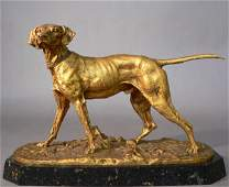 834 Pierre Jules Mene Bronze of a Dog