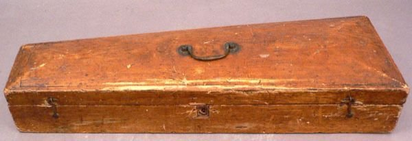 616: A 19th C. Fiddle Case, Hinged Wood.