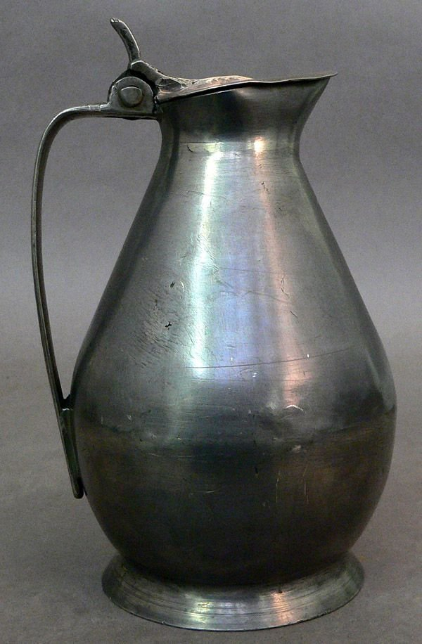 623: 19th C. French Pewter Wine Flagon
