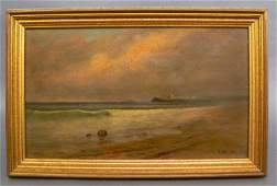 785: 19th C. Oil on Canvas Seascape.