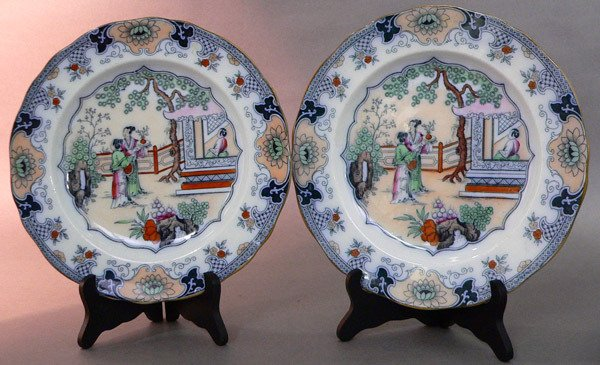 619: Pair 19th C. English Ironstone Plates