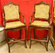 1111: Pair of French Style Bar Stools