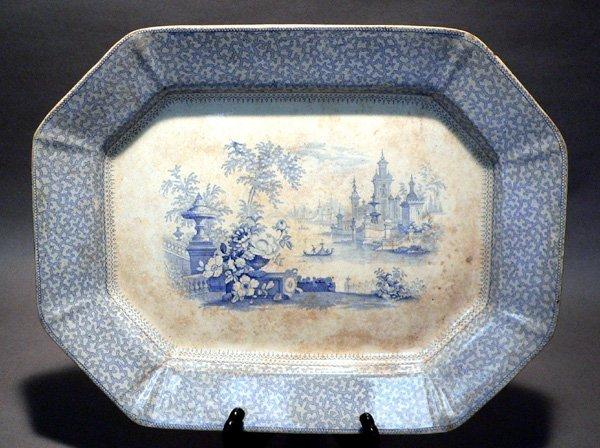 55: 19th C. Ironstone Platter, G. Phillips, Marino