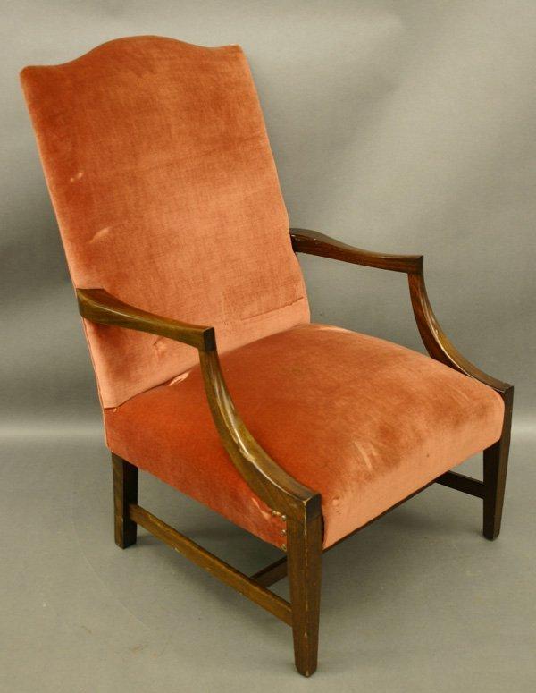 61: Mahogany Hepplewhite Lolling Arm Chair.