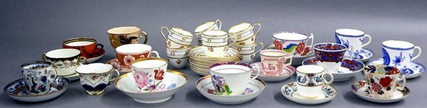 62: Collection of 22 Cups and Saucers