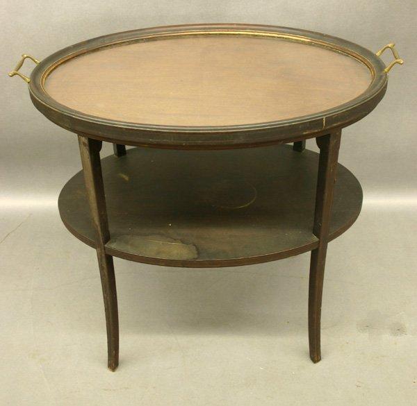 67: Antique Inlay Mahogany Hepplewhite Table.
