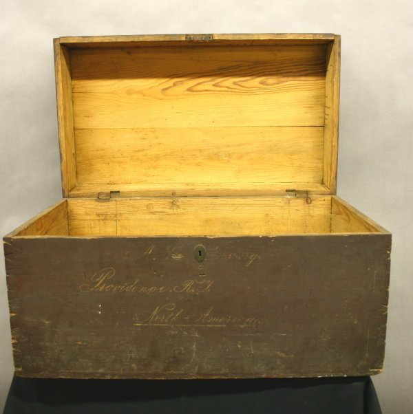 71: Early 19th C. Dovetail Blanket Chest.
