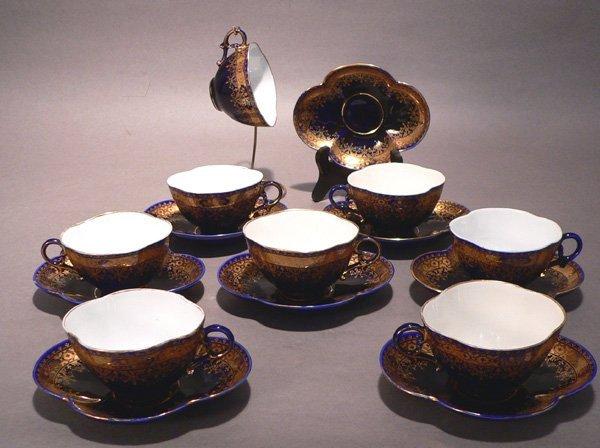 74: 8 Utzchneider Cups and Saucers
