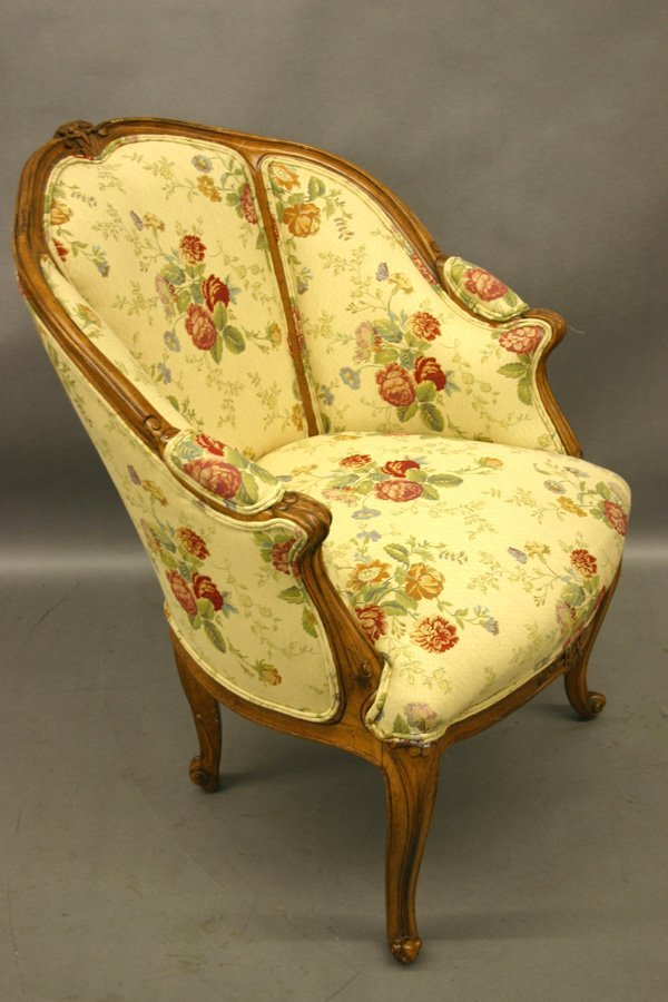 266: Pr. Louis XV Style Upholstered Arm Chairs.