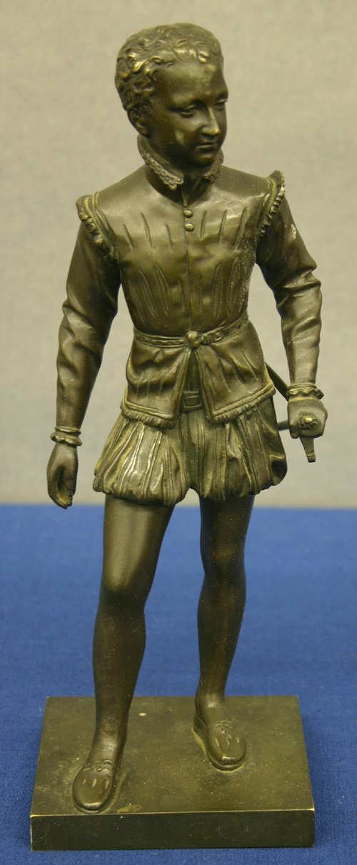 660: 19th Century French Bronze, Soldier ca. 1890
