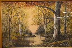 Mixed Media, Raphael Senseman, Autumn Forest
