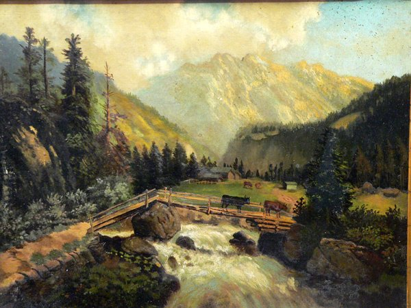 177: 19th C. American Oil on Canvas, Landscape
