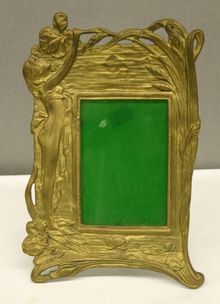 168: Brass Art Deco Picture Frame