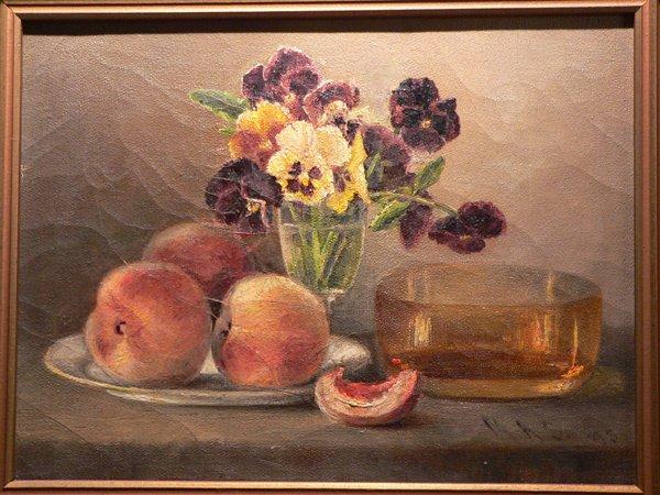 658: 19th C. Oil on Canvas, Still Life