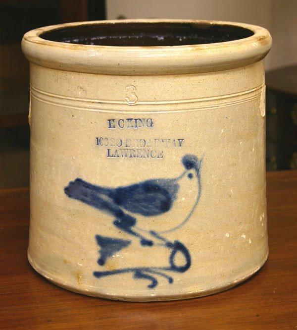 660: 19th C. Stoneware Crock, H.C. King