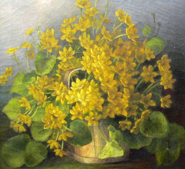 662: 19th C. Oil on Canvas, Still Life, 1890