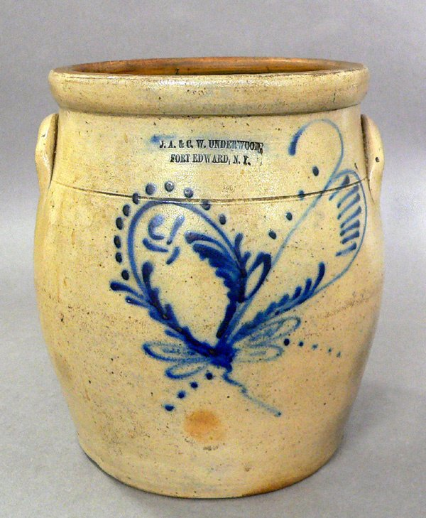 664: 19th Century Stoneware Crock, Underwood.