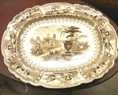 671: 19th C. Transfer Decorated Canova Platter