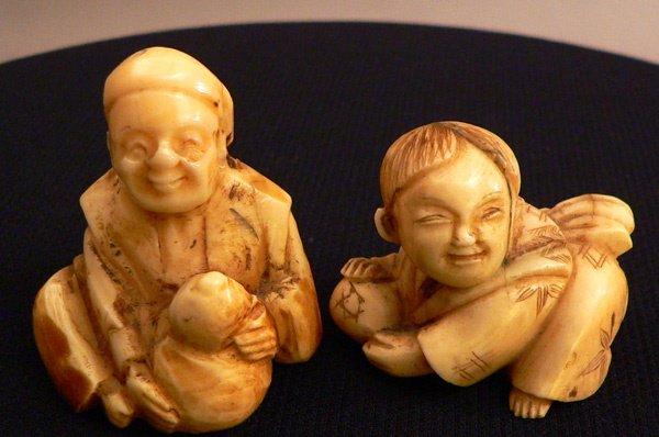 673: Two Antique Netsuke Figures