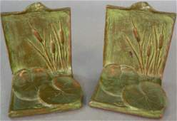 721: Pair of McClelland Barclay's Bronze Art Bookends.