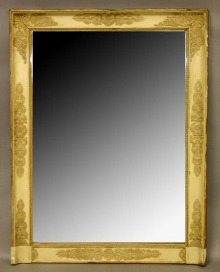 806: Italian Painted and Parcel Gilt Mirror.