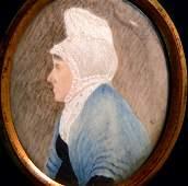 856 19th C Portrait Miniature on Ivory