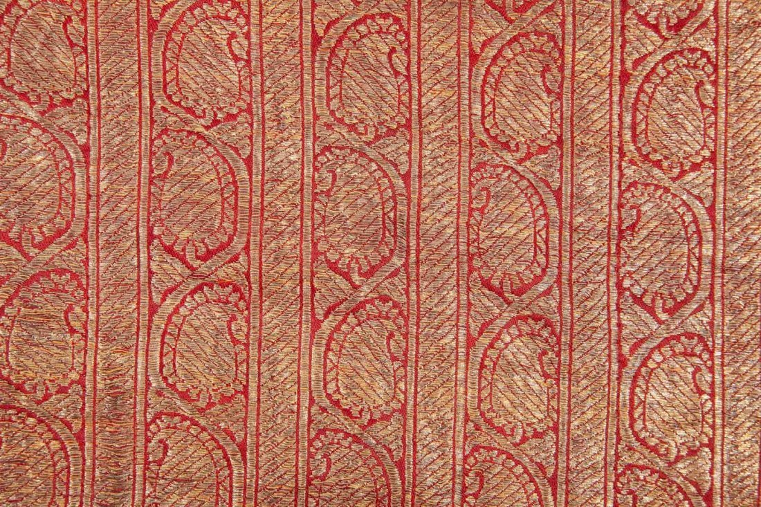 Uzbek Brocaded Chapan with Ikat Lining  19th c - 2