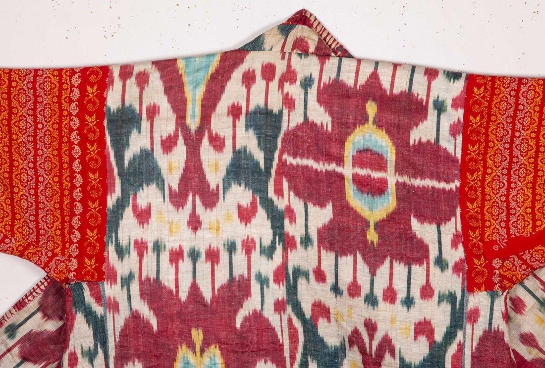Uzbek Brocaded Chapan with Ikat Lining  19th c - 6