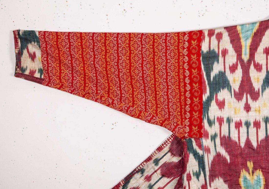 Uzbek Brocaded Chapan with Ikat Lining  19th c - 7