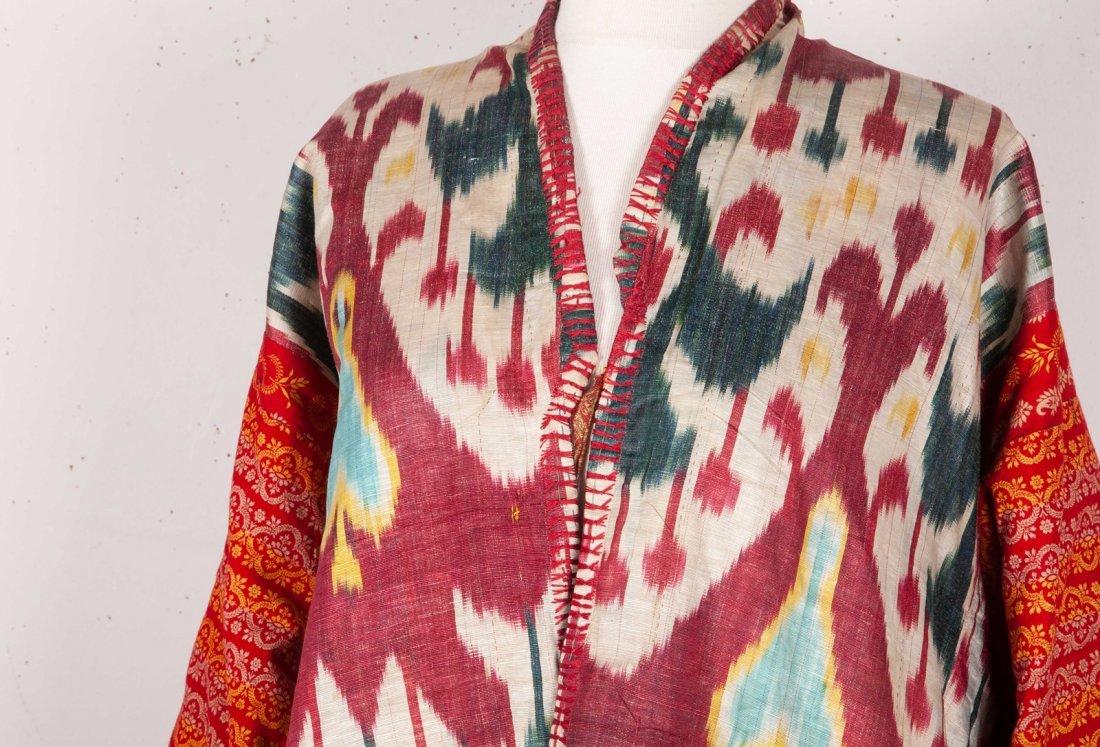 Uzbek Brocaded Chapan with Ikat Lining  19th c - 9