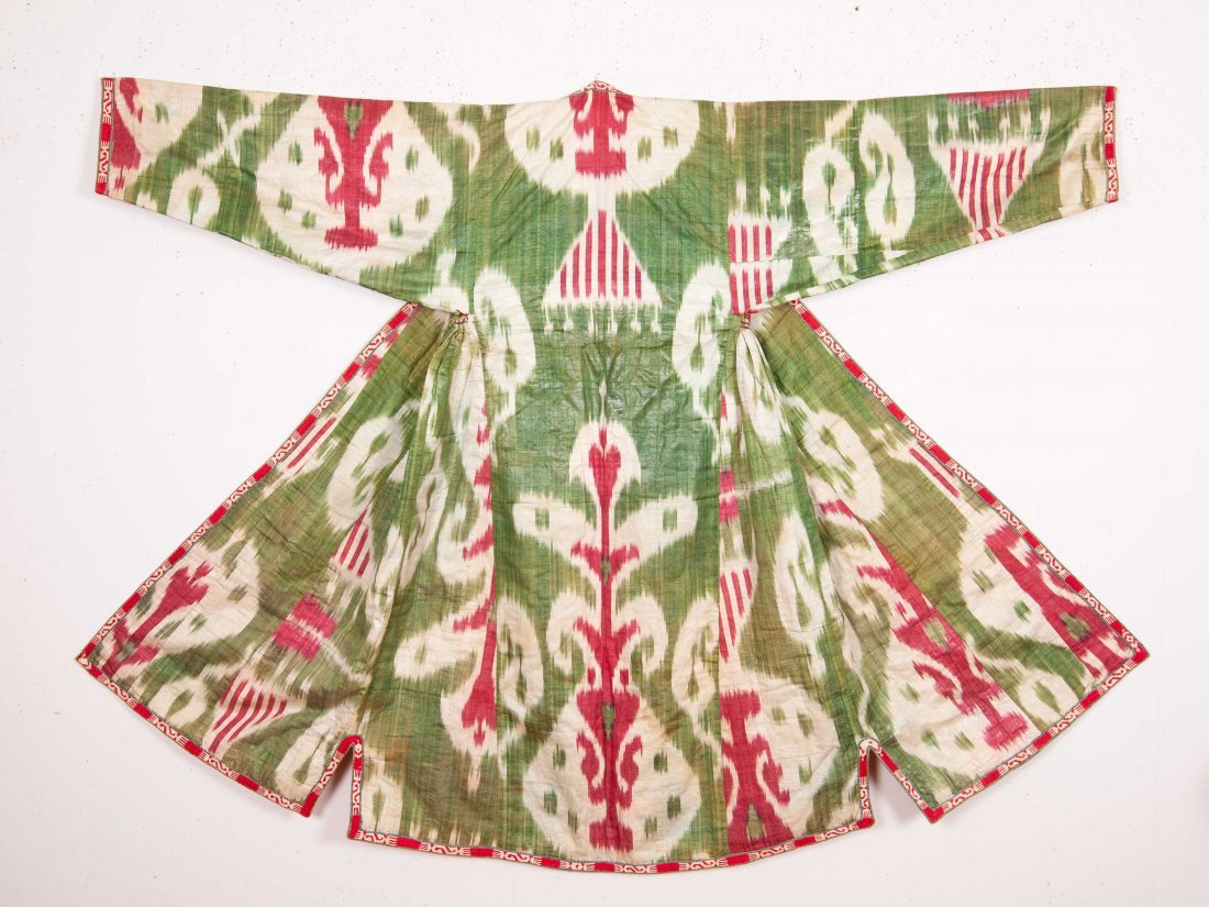 Uzbek Ikat Chapan  Late 19th c