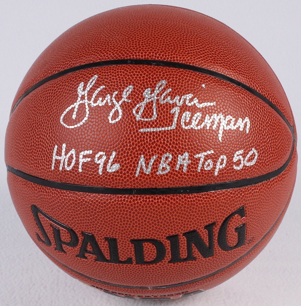 """George Gervin signed basketball inscribed """"Iceman"""" COA"""