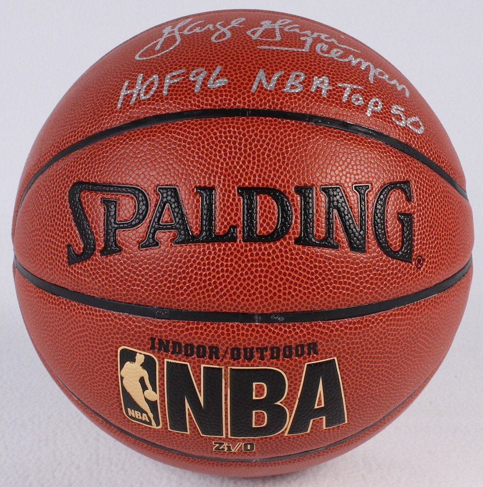"""George Gervin signed basketball inscribed """"Iceman"""" COA - 2"""