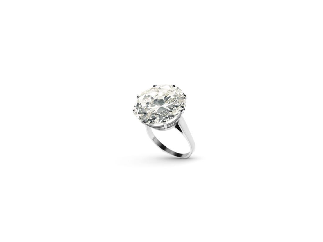 PLATINUM RING WITH BRILLIANT CUT DIAMOND CT 13,70