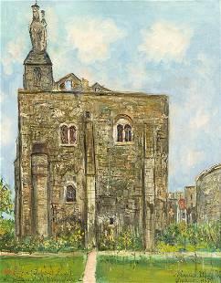 MAURICE UTRILLO 1883 - 1955) - Le Chateau et la vierge