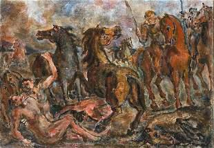 ALIGI SASSU (1912 - 2000) - La morte di Patroclo, 1940