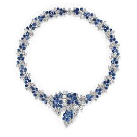 Fontana  - An important 18K white gold, sapphire and