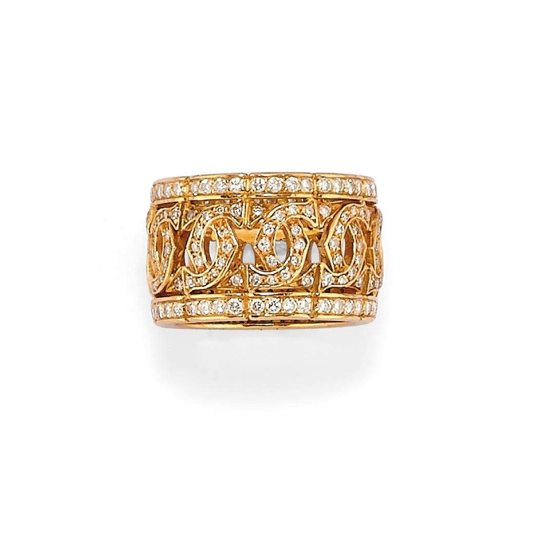 Cartier  - A 18K yellow gold and diamond ring, Cartier