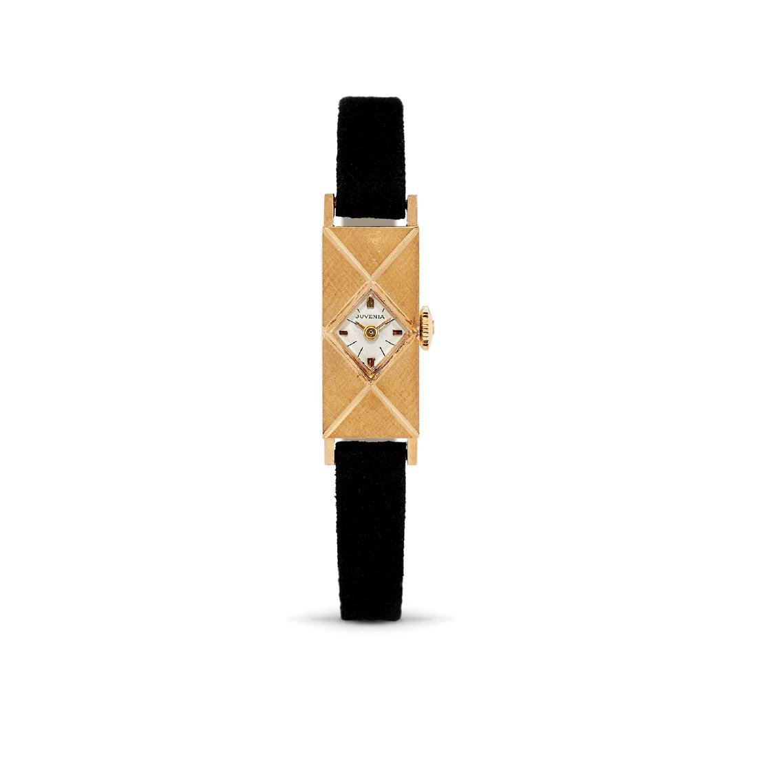 Juvenia  - A 18K gold Juvenia lady's wristwatch
