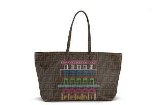 Fendi - Printed canvas Shopper Bag