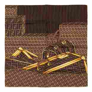 Fendi - Logo Silk Twill scarf