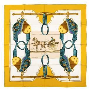 Hermès - Carrick à Pompe Silk Twill scarf